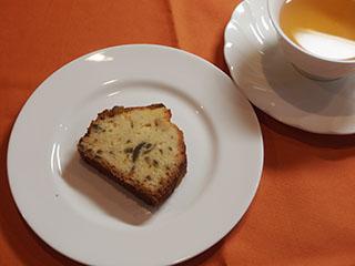 かぼすのケーキとお茶1810