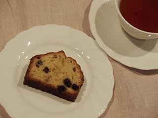 レモンとレーズンのケーキお茶1903