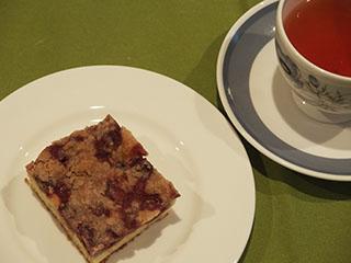 チェリークランブルスクエアとお茶1905