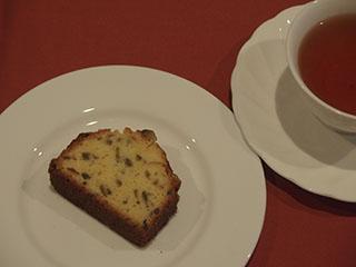 かぼすのケーキとお茶1911