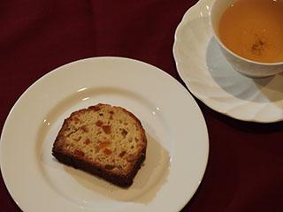 甘夏とくるみのケーキお茶2002