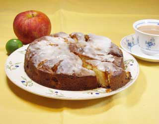 昔風りんごのケーキ