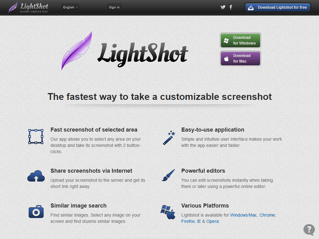 Lightshot — screenshot tool for Mac & Win