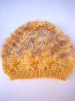 リボン編みニット帽