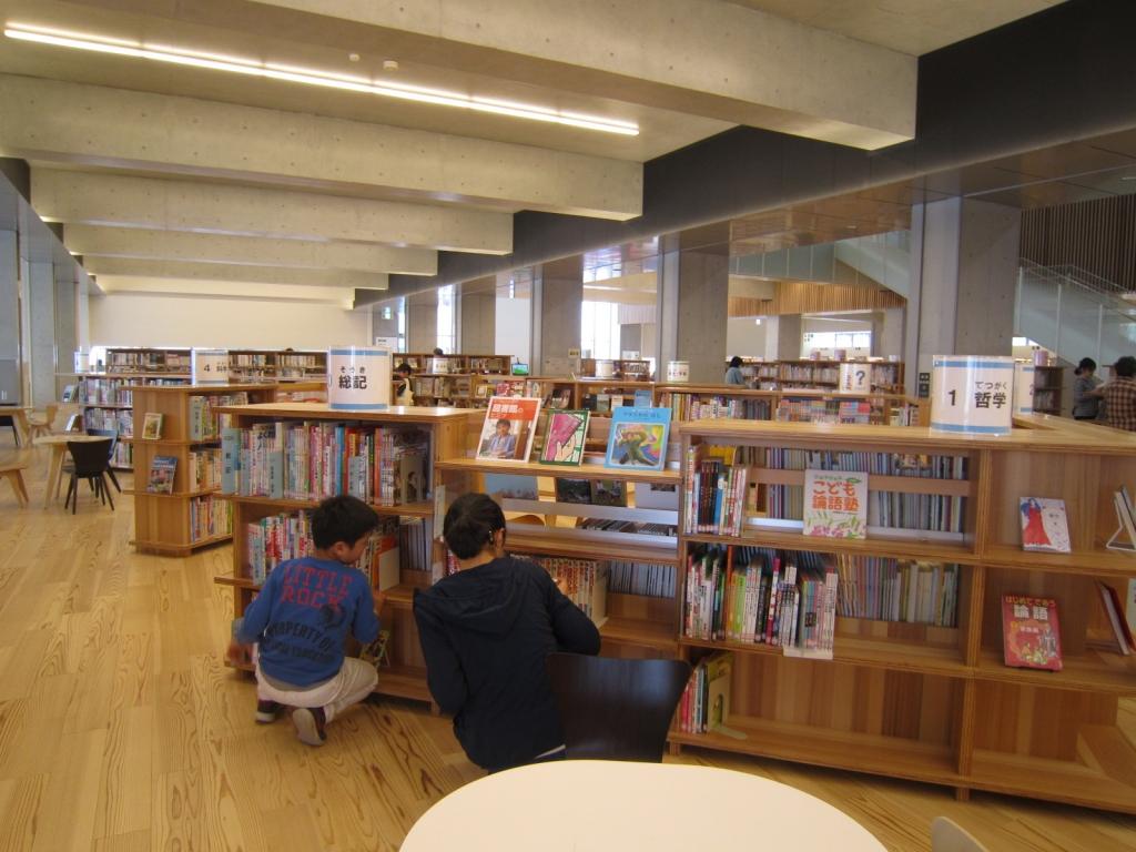 大崎市図書館での自由時間1