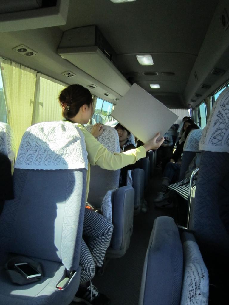 H30スマイルきっず 川渡・岩出山バス車内2