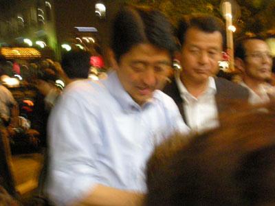 安倍首相 街頭演説