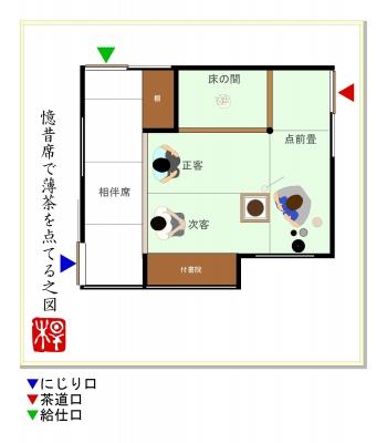 茶室の平面図集