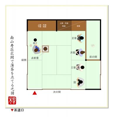 茶室(松)の図面:茶室・京町家・数寄屋建築