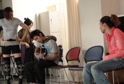 ギター演奏中