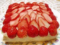 苺のケーキ☆スクエア型