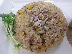 Basic2-3トウモロコシと赤米ご飯