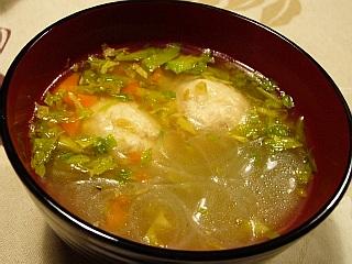 鶏つみれのスープ
