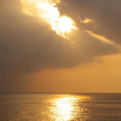 これは湘南の夕日です。