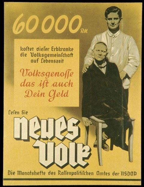 月刊『ナチ党人種政策』ポスター