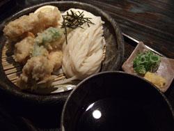 山元麺蔵の鶏ささみ天ざる