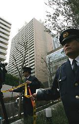 西村真悟衆院議員の長男が転落した衆院議員宿舎=東京都港区赤坂で2008年1月9日午前11時35分、長谷川直亮撮影