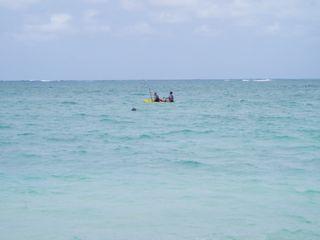 一番最初に見えたビーチ
