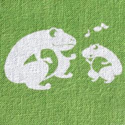 オリジナル日本手拭いカエル柄