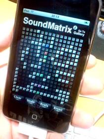 yamaha(ヤマハ)tenori-onっぽいiPhone/iPodtouch無料アプリのSoundMatrix