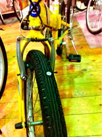 自転車のタイヤに画鋲・・・