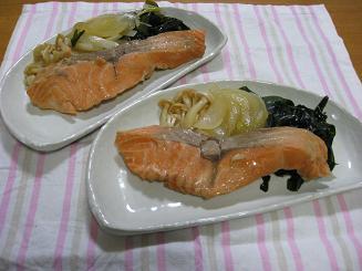 ごはん*鮭の煮物