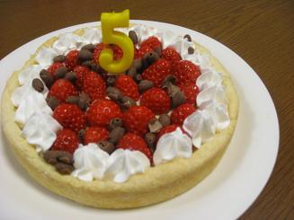 5歳誕生日ケーキ