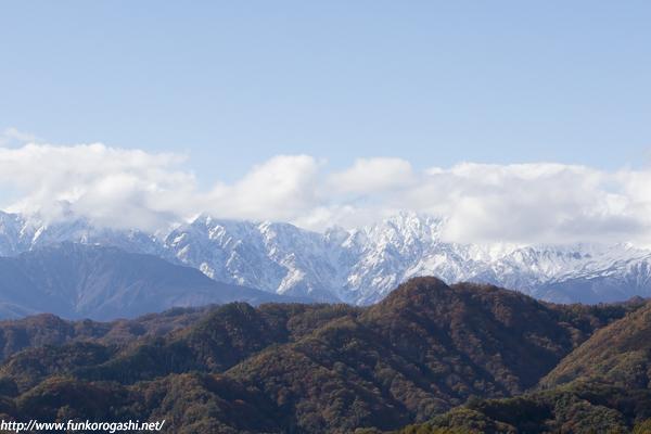 初冬の峰々
