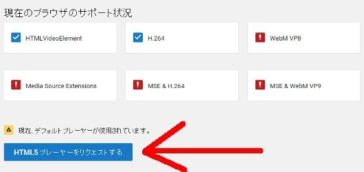 Youtube HTML5プレーヤーをリクエストする