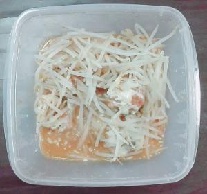 鯖缶味噌煮+もやし レンジでチン