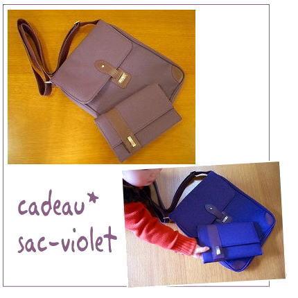 "CADEAU""sac violet"""