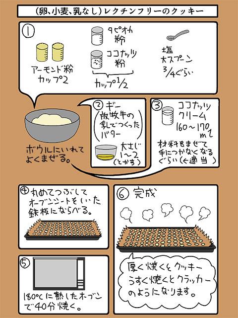 レクチンフリー27:小麦・玉子・乳・砂糖不使用クッキーのイラスト