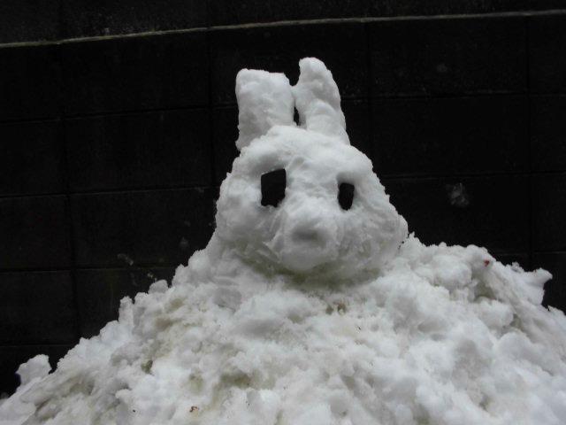 20200329大雪雪だるま