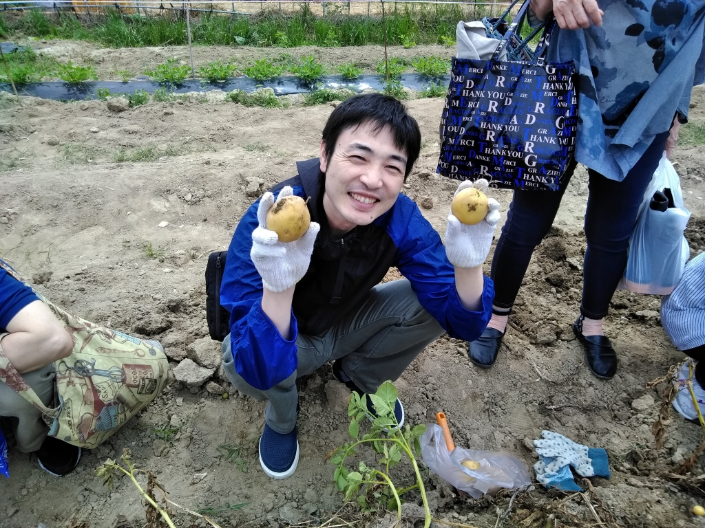 ジャガイモ堀体験