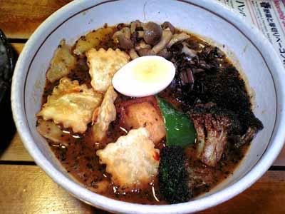 らっきょ ラビオリ(煮込み&揚げ)カレー