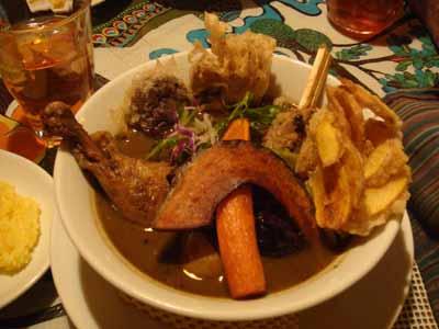 GOMBEI SPICE マザーアース ローストチキンレッグ+鶏ごぼうつくね+天ぷら