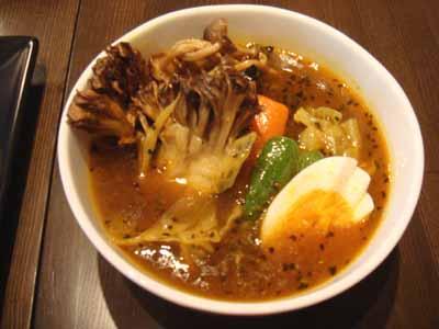 Curry Mind マインドスープ 限定ランチ チキンカツ+しめじ、まいたけ