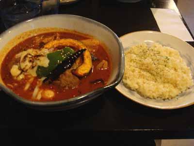 Rojiura Curry SAMURAI. てごねラムボールこがしチーズとごはん