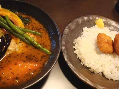 lavi CHITOSE チキンto野菜 エビカツ、鶏唐揚げトッピングとごはん