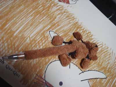 くまのボールペン。