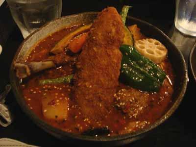 Rojiura Curry SAMURAI. パリパリチキンとフィッシュフライ&野菜カリィ 辛さ30番 手ごねラムボールトッピング