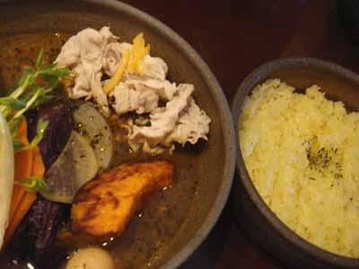 VOYAGE 喜茂別産 豚のしゃぶしゃぶ 続・新曼陀羅スープとごはん
