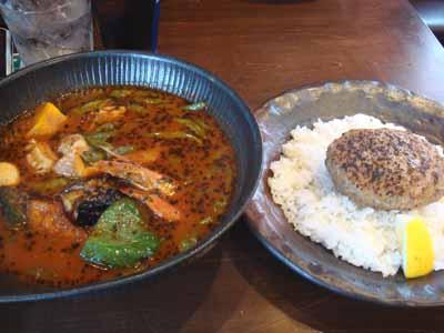 lavi HIRAGISHI 角煮to野菜カレー 辛さ50番、ピッキーヌ×10、エビスープトッピングとごはん ハンバーグ ライスオントッピング