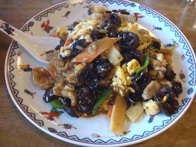 玉林酒家 木須肉(きくらげと卵、肉炒め)