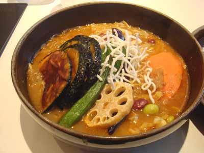ひげ男爵 ラムステーキ(日替わり) かぼちゃ増量、春雨増量、豆トッピング