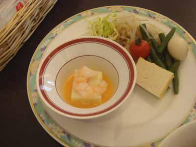 ザ・テラス ホワイトアスパラの豆腐と野菜