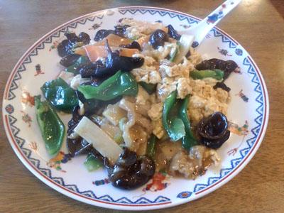 玉林酒家 きくらげと竹の子と卵と肉炒め