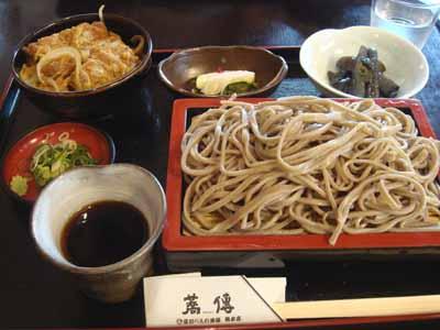 蕎傳 カツ丼セット(手打ちそば)