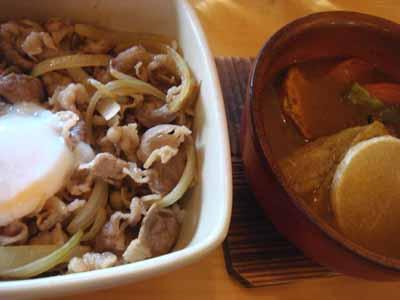 とら 牛丼+ミニカレーセット