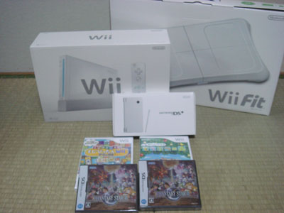 WiiとWii FitとDSiと色々w